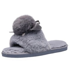 kami et muse Over drop toe open fur slippers_KM19w164
