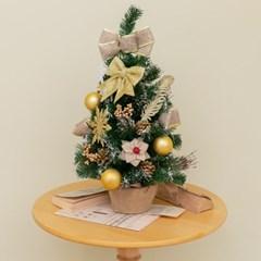 132 크리스마스 파인 골드 미니 트리 풀세트_(2183056)