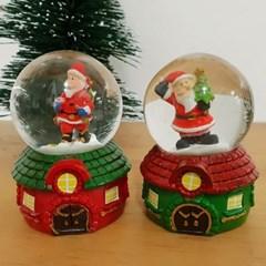 산타 눈사람 하우스 미니워터볼 2종