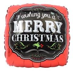 크리스마스 은박풍선 18인치 - 사각