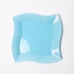 칼라 파티접시 웨이브 19cm -스카이(6입)