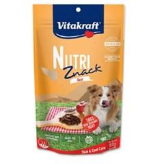 비타크래프트 뉴트리즈낵 소고기 스킨&코트 80g(DOG)/강아지간식