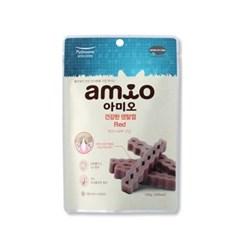 맛있는 강아지간식 아미오 건강한 덴탈껌 100g(레드-피_(1205713)