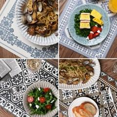 플로르 패턴 디자인 방수 테이블매트 식탁매트 16종1택_(1449747)