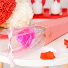 리본 장미꽃 한송이 50cm [핑크]_(11893924)