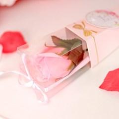 리본 장미꽃 한송이 30cm [핑크]_(11893920)