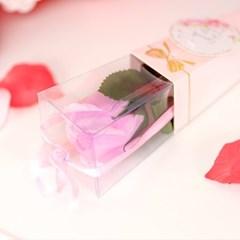 리본 장미꽃 한송이 30cm [라벤더]_(11893919)