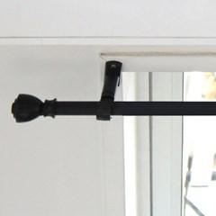 심플 블랙 커튼봉(340/450/570)