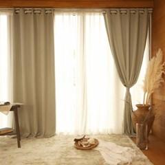 호텔식 와플 아일렛 암막커튼(창문형/긴창형)2장+끈/봉구성