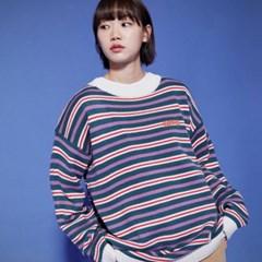 KN068_Stripe Knit Sweater_Bluegreen