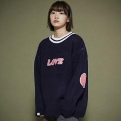 KN073_Cozy LOVE  Knit Sweater_Navy