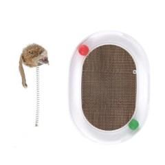 고양이 용품 장난감 캣볼 스크레쳐 쥐 CT-7779 에그_(2443118)