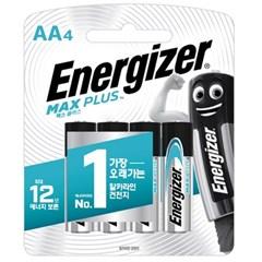 에너자이저 알카라인 맥스플러스 건전지 AA AAA 4입 (4알)