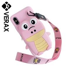 아이폰8 캐릭터 동물 수납 지갑 젤리 케이스 P398_(2159884)