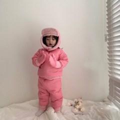 오) 스노우 풀 아동 패딩상하세트(모자,장갑 포함)