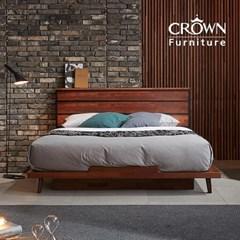 클린트 멀바우 원목 평상형 침대 B타입 Q 퀸(매트리스 선택)