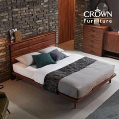 클린트 멀바우 원목 평상형 침대 A타입 Q 퀸(매트리스 선택)