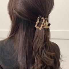 [3 color] 프랑스핀 사각 반묶음 올림머리 헤어 집게핀