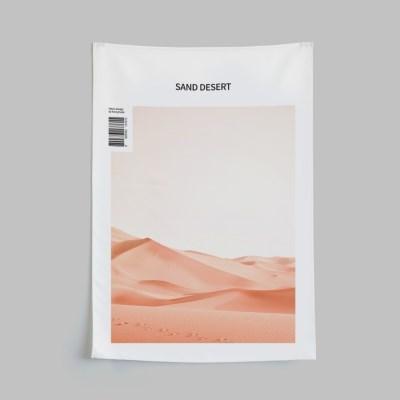 자석형 패브릭포스터 모래사막 가리개커튼L