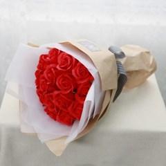 졸업꽃다발 선물 안개꽃다발 15송이 비누장미 꽃다발