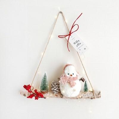 오밀조밀 눈사람마을 자작나무 겨울 가랜드
