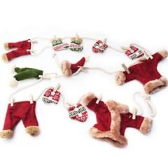 크리스마스장식용품산타옷 빨래줄걸이