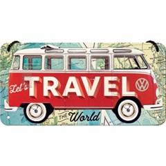 노스텔직아트[28035] VW Bulli - Lets Travel The World