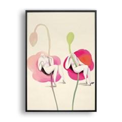 꽃과 여자