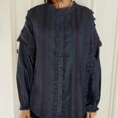 lace bust line blouse (2colors)_(1398596)