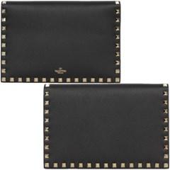 19FW 발렌티노 락스터드 포켓 클러치 (엠보/블랙) SW2P0S39 VSH 0NO