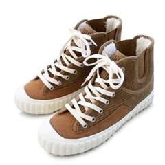 kami et muse Corduroy fur high top sneakers_KM19w181
