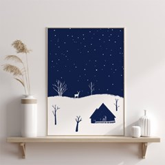 크리스마스 겨울 인테리어액자 _ 고요한 숲속의 밤