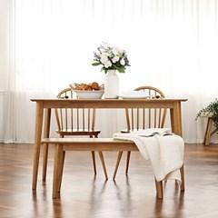로카 원목 4인(6인)식탁세트 (벤치포함)