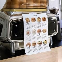 breakfast canvas calendar (2size)