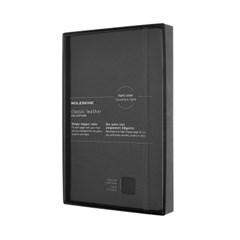 [19클래식 레더 노트]룰드/블랙 하드 L