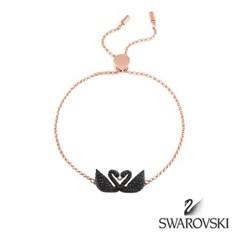 SWAROVSKI 스와로브스키 정품 5344132 블랙 스완 로즈골드 팔찌 뱅글