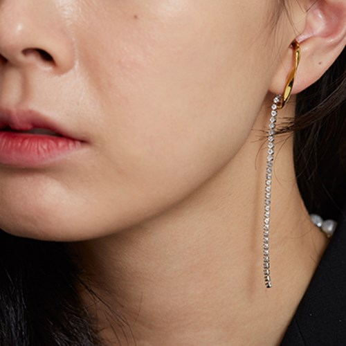 unbalance drop earring