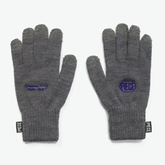 CIRCLE LOGO SMART GLOVES (GREY)_(401043859)