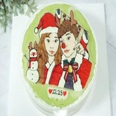 🎄 크리스마스 디자인 원형케이크 (레드벨벳맛 신상추가!) &#