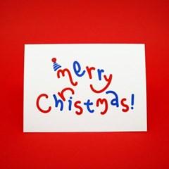 크리스마스 파티 레터프레스 카드
