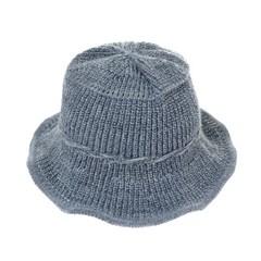 [플릭앤플록]RKU09.끈장식 골지 니트 여성 벙거지 모자