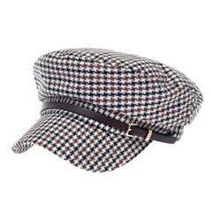 [플릭앤플록]RKC02.셰퍼드 체크 여성 군모 마린 모자