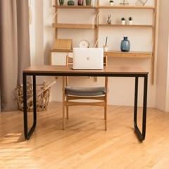 메이슨 1500 스칸월넛 라운드 입식 컴퓨터책상 철제 노트북 PC방