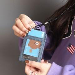 핑크풋 시스템 포켓 카드 지갑 (랜덤배송)