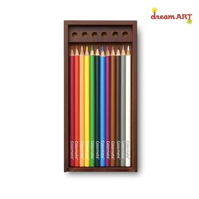 [드림아트]고급 12색 색연필 우드케이스