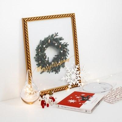 크리스마스 트리 장식 포스터 vol.1(골드사인 리스)