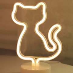 LED 네온 전구 USB 조명등 (고양이)_(301768016)