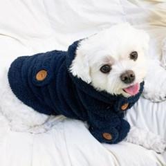 떡복이 단추 코트