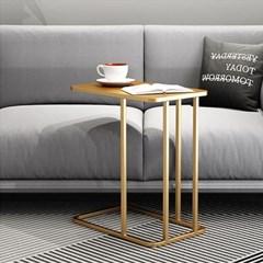 아파트32 홈 골드 철제 코너 소파테이블/ 이동식 미니 사이드 테이블