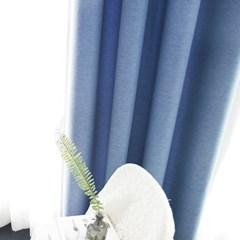 [바이아미] 베이직 암막커튼 - 블루